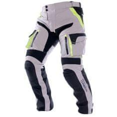 Cappa Racing Kalhoty moto pánské MELBOURNE textilní šedé/fluo/černé