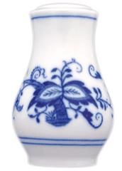 ČESKÝ PORCELÁN Soľnička sypacia s nápisom soľ 7,5 cm, dekor cibulák