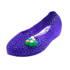 Inox Dámské baleríny krajkové fialové Velikost: 36