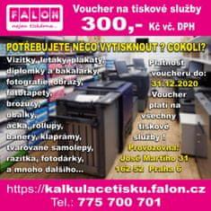 Poukaz na tiskové služby od FALON v hodnotě 300,- Kč