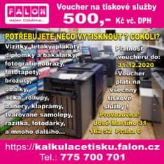 Poukaz na tiskové služby od FALON v hodnotě 500,- Kč