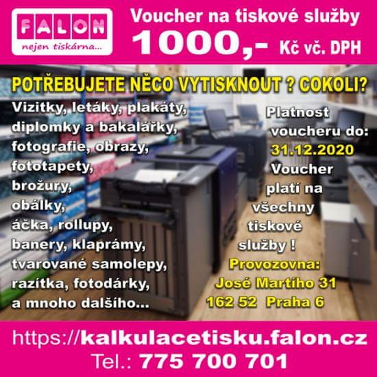 Poukaz na tiskové služby od FALON v hodnotě 1000,- Kč