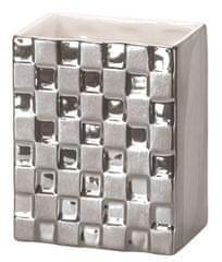 Kleine Wolke kubek łazienkowy Check srebrny