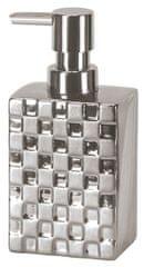 Kleine Wolke dozownik do mydła Check srebrny