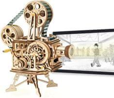 Robotime Robotime 3D dřevěné mechanické puzzle Vitascope filmový projektor 183 dílků