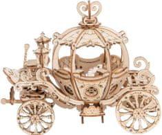 Robotime Robotime 3D dřevěné puzzle Kouzelný dýňový kočár pro princeznu 182 dílků