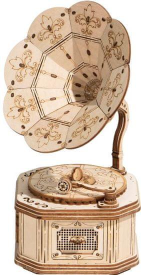 Robotime Robotime 3D dřevěné puzzle Gramofon 122 dílků