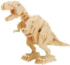Robotime Robotime 3D dřevěné puzzle Tyrannosaurus Rex chodící se zvuky 85 dílků
