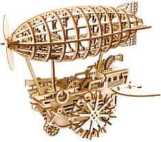 Robotime Robotime 3D dřevěné mechanické puzzle Vzducholoď 229 dílků