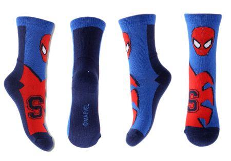 """SETINO Wysokie skarpety chłopięce """"Spiderman S"""" - czerwono / niebieski - 27–30"""
