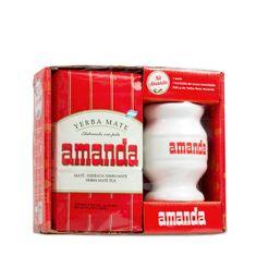 Amanda Čaj Maté - dárková sada s keramickou nádobou