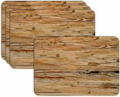 RoomDecor.eu Prostírání - 081 - imitace dřeva, 4 Ks