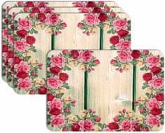 RoomDecor.eu Prostírání-129 - imitace dřeva, 4 Ks