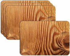 RoomDecor.eu Prostírání-110 - imitace dřeva, 4 Ks
