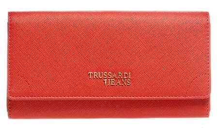 Trussardi Jeans portfel damski czerwony 75W00214-9Y099999