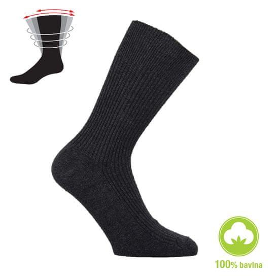 Zdravé Ponožky Dámské i pánské zdravotní 100% bavlněné ponožky - 47-50, tmavě modrá