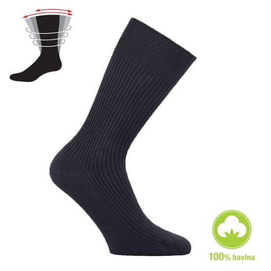 Zdravé Ponožky Dámské i pánské zdravotní 100% bavlněné ponožky - 39-42, antracitová