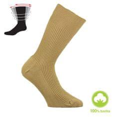 Zdravé Ponožky Dámské i pánské zdravotní 100% bavlněné ponožky bez gumiček 91005