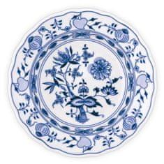 ČESKÝ PORCELÁN Tanier hlboký praporový Ø 24 cm, dekor cibulák, 6 ks