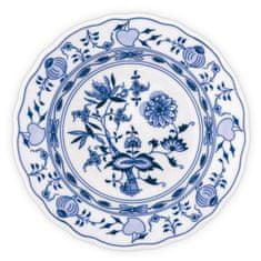 ČESKÝ PORCELÁN Tanier hlboký praporový Ø 21 cm, dekor cibulák, 6 ks