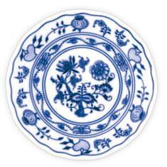 ČESKÝ PORCELÁN Tanier dezertný praporový Ø 17 cm, dekor cibulák, 6 ks