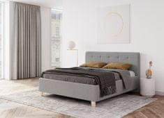 We-Tec Manželská posteľ MONICA, 180x200 cm s úložným priestorom + 2 ks bočne výklopné bukové rošty, v 3 farbách