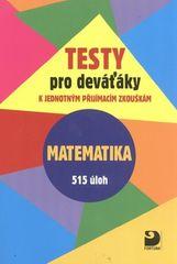 Testy pro deváťáky Matematika 515 úloh - k jednotným přijímacím zkouškám
