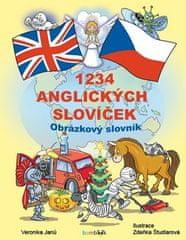 Veronika Janů: 1234 anglických slovíček - Obrázkový slovník pro děti