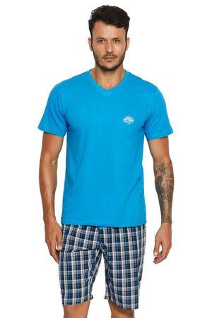 Henderson Férfi pizsama 37828 + Nőin zokni Sophia 2pack visone, világos kék, M