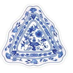 ČESKÝ PORCELÁN Misa šalátová trojhranná 19,5 cm, dekor cibulák