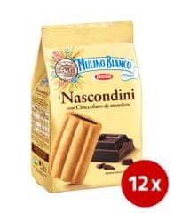 Barilla Mulino Bianco Nascondini piškoti s čokoladnim polnilom, 12 x 330 g