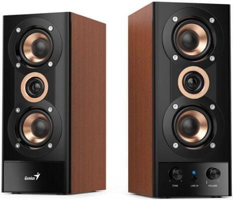 Głośniki Genius SP-HF 800A v2 (31730010402) moc 20 W, 3,5 mm jack, słuchawki mikrofon, sterowanie głośnością, wysokiej jakości dźwięk, moc