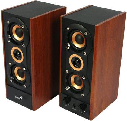 Głośniki Genius SP-HF 800A v2 (31730010402) moc 20 W, Subwoofer 29 W, 3,5 mm jack, słuchawki mikrofon, regulacja głośności i basu, mocny zakres dźwięku, drewniany subwoofer, przetworniki 5,25