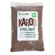Country Life Country Life Karobový prášek tmavý Bio 500 g (Svatojánský chléb)