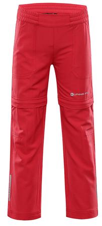 ALPINE PRO Pantaleo 4 otroške softshell hlače, 116 - 122, roza