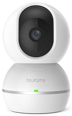 Kamera bezpieczeństwa IP Blurams Snowman, Full HD, szerokokątna, rotacja, pilot zdalnego sterowania, regulowana, zoom, wykrywanie twarzy, wykrywanie ruchu, wykrywanie dźwięku, noktowizor, mikrofon, głośnik, chmura