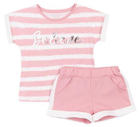 Garnamama lány póló és rövidnadrág, 128, rózsaszín