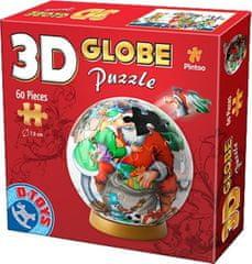 D-Toys 3D Globe puzzle Máme rádi Santu 60 dílků