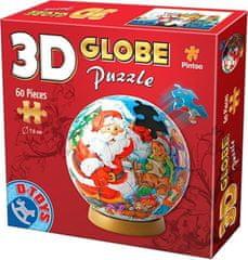 D-Toys 3D Globe puzzle Vánoce se Santou 60 dílků