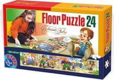 D-Toys Panoramatické puzzle Pinocchio MAXI 24 dílků