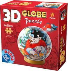 D-Toys 3D Globe puzzle Medvídek s kamarády 60 dílků