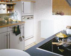 Optiline Skleněný elektrický radiátor SOLARIS 500/630, bílý, lesklý, s termostatem, výkon 450 Wattů