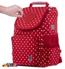 Pixie Crew Školska crvena torba s bijelim točkicama