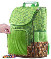 Pixie Crew Minecraft iskolatáska zöld-barna