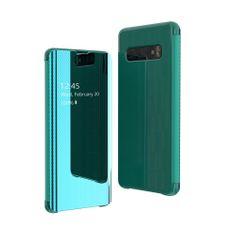 MG Flip Clear View knížkové pouzdro pro Samsung Galaxy S10e, zelené