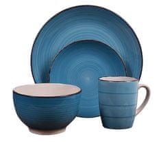 EXCELLENT Jídelní sada talířů VALENCIA kamenina 16 ks modrá