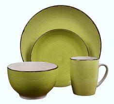 EXCELLENT Jídelní sada talířů VALENCIA kamenina 16 ks zelená