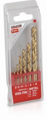 Kreator KRT012101 - 6 ks HSS Vrtákov do kovu TIN 2-3-4-5-6-8 mm
