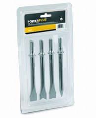 PowerPlus POWAIR0107 - Sada sekáčů 4ks