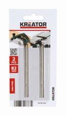 Kreator KRT991000 - 2 ks náhradných nožov pre hoblíky 82mm